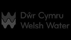 watergate översvämningsskydd logotypen för Welsh Water