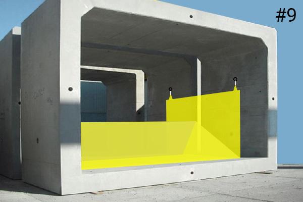 Flexibel Water-Gate © kofferdammar. Diagram över en installation i en betongkulvert | Fall nr 9