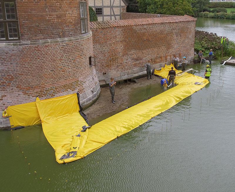 U-formad kista - Frederiksbord Castle - Dränering av byggarbetsplatsen - Moat - First Canal